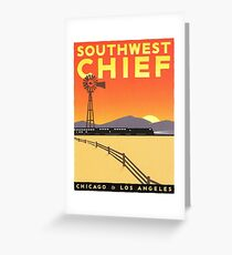 Vintage poster - Southwest Chief Greeting Card