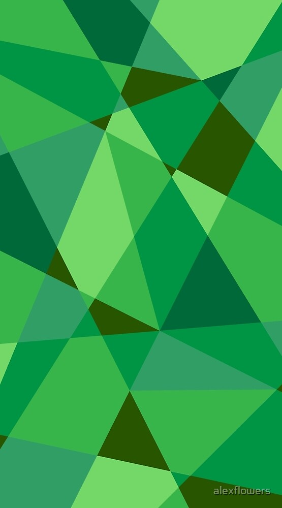 Green Geometric Pattern by alexflowers