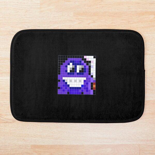 pixel art forever retro 8-bit chique Bath Mat