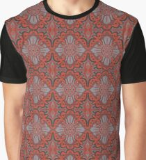 """""""Sliced pomegranat"""" organic forms,  bohemian pattern, terracotta and grey tones Graphic T-Shirt"""