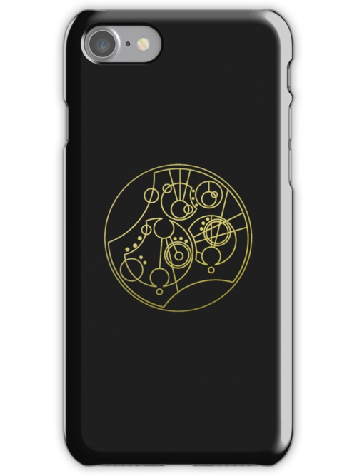 'Gallifrey Falls No More.' in Gallifreyan - Gold (transparent background) by ChibiPeppers