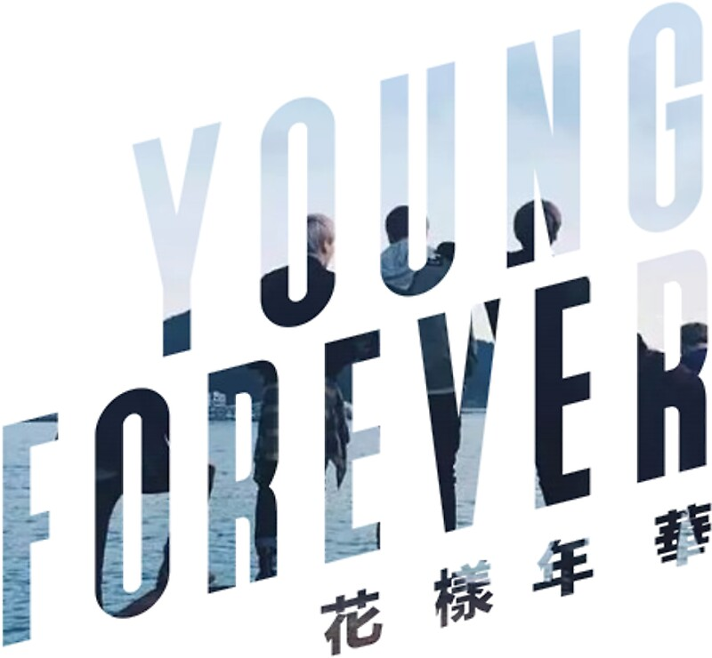 """""""BTS Young Forever Logo"""" Stickers by thecutestever   Redbubble"""
