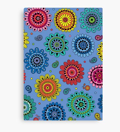 Flowers of Desire blue Canvas Print