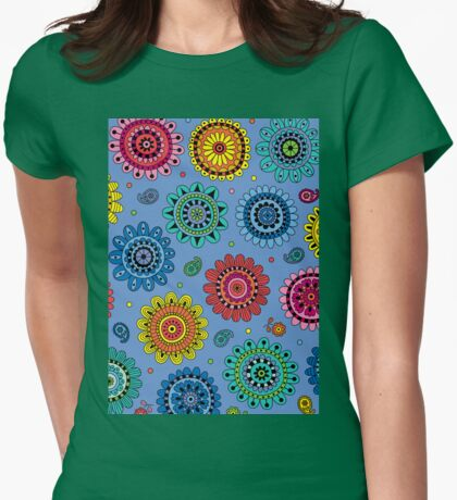Flowers of Desire blue T-Shirt