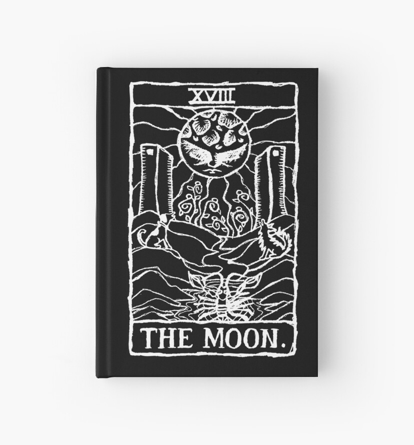 The Moon Tarot Card Print  by lafayettecanada