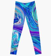 Lavander Paint Swirl Leggings