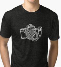 Pentax 6X7 Medium Format Camera WHITE INK Tri-blend T-Shirt