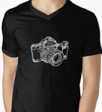 Pentax 6X7 Medium Format Camera WHITE INK Men's V-Neck T-Shirt
