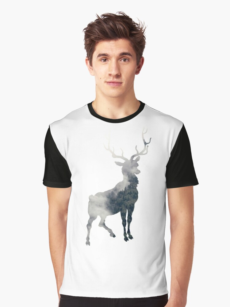 deer Graphic T-Shirt Front