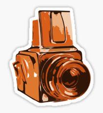 Medium Format 6x6 Camera Design in Orange Sticker