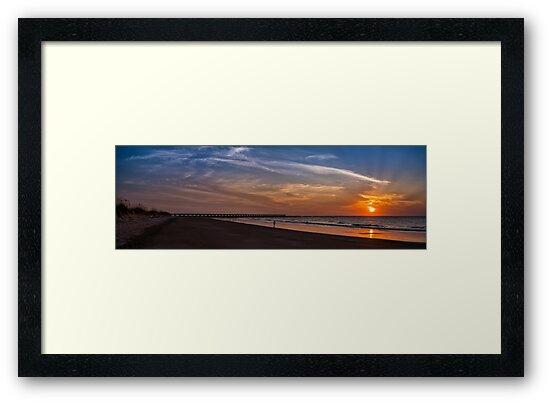 Fort Clinch Pier Sunrise by Ken Everett