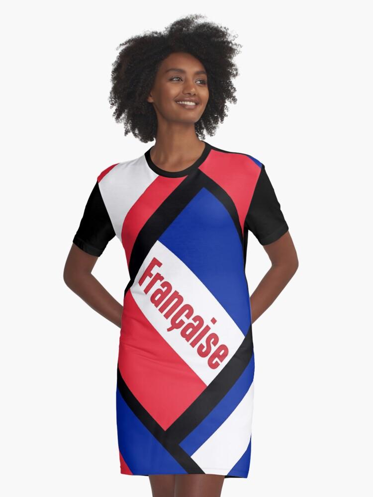 République française Graphic T-Shirt Dress Front