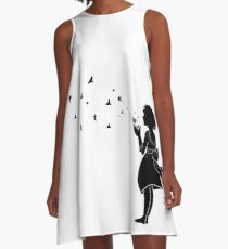 Dandelion Wishes A-Line Dress