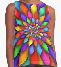Rainbow Spiral Petals Flower Contrast Tank