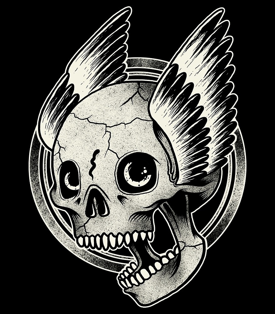 Bikers Skull Wings  by blackboxshop