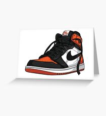 "Air Jordan 1 ""SHATTERED BACKBOARD"" Greeting Card"
