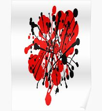 red and black abstract Poster