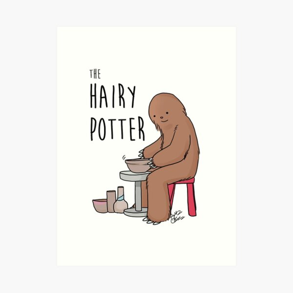 The Hairy Potter Art Print