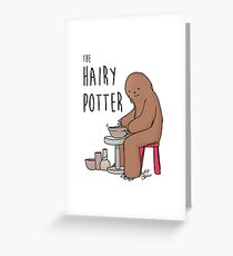 The Hairy Potter Greeting Card
