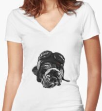 Bully for You Women's Fitted V-Neck T-Shirt