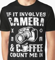 d68a46b1 I Love Camera and Coffee Graphic T-Shirt