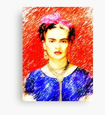 Looking for Frida Kahlo... Canvas Print