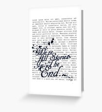 We're All Stories Greeting Card