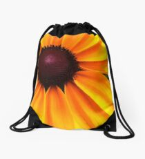 Yellow and Purple Drawstring Bag