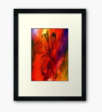 sunset and vine Framed Print