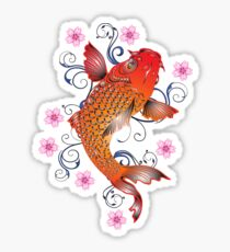 Koi of the Fire and Flower Sticker