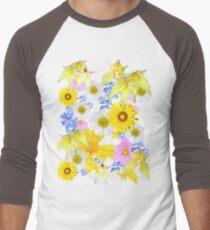 Yellow Daisy Men's Baseball ¾ T-Shirt