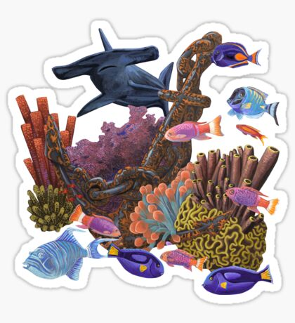 Underwater coral reef Sticker