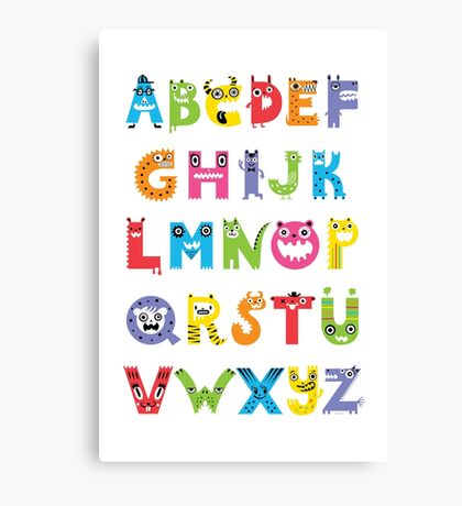 Alphabet Monsters poster Canvas Print