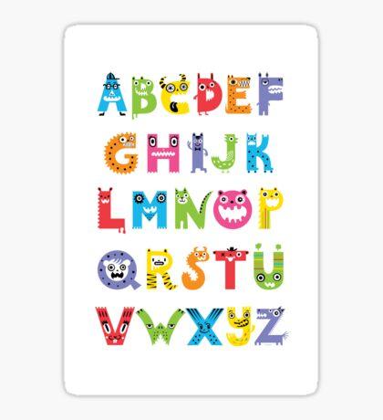 Alphabet Monsters poster Sticker