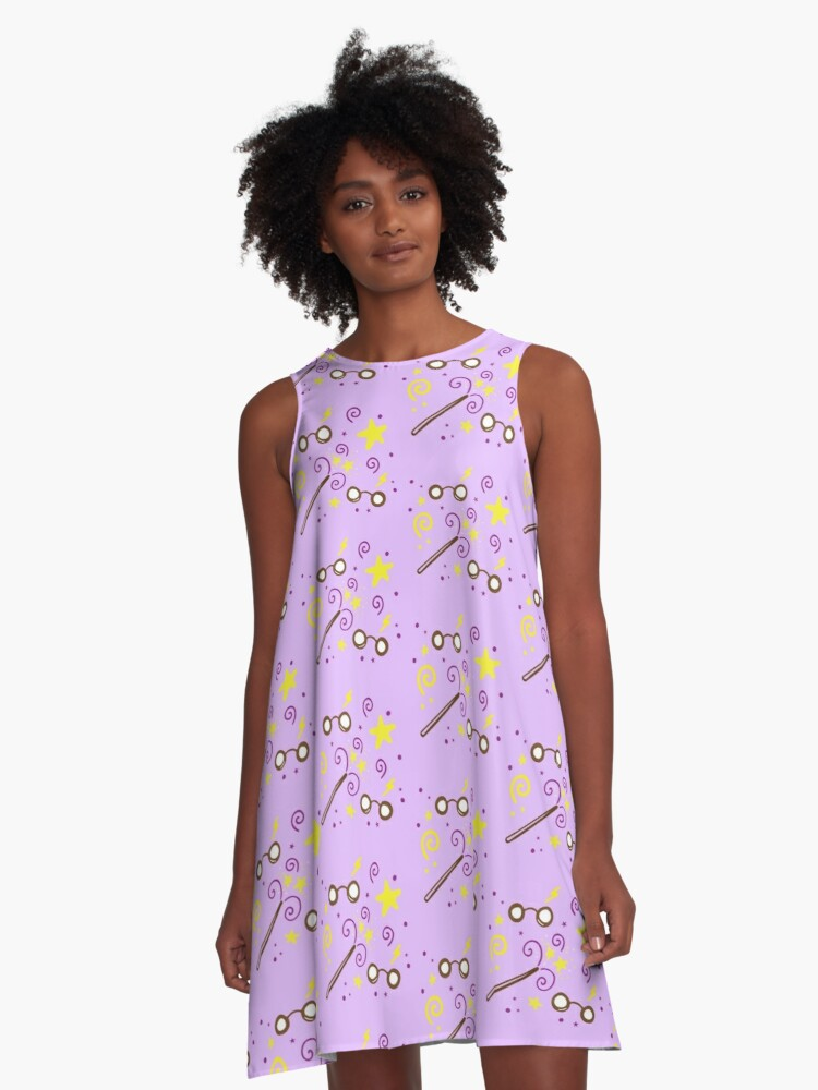Wizarding pattern A-Line Dress Front