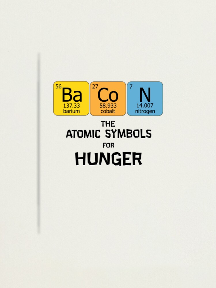Atomic Symbol For Hunger Photographic Print By Domcowles12