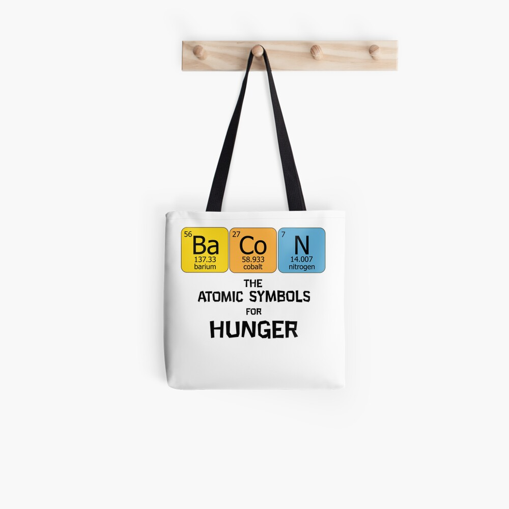 Atomic Symbol For Hunger Tote Bag By Domcowles12 Redbubble