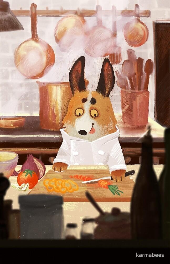 Corgi Chef by karmabees