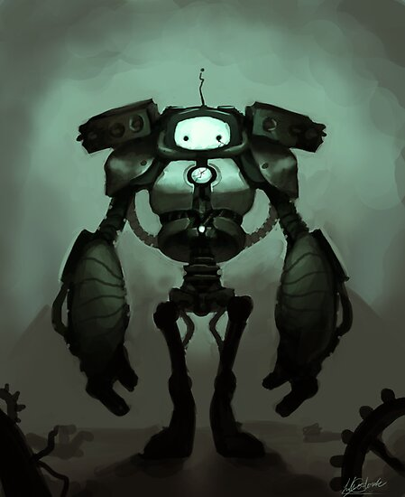 Sad Robot by Lily Ondine