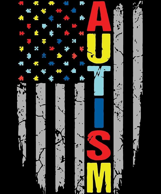 """Autism Awareness Art Posters Framed Artwork: """"Autism Awareness T-Shirt"""