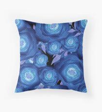 Seamless textile design Roses.  Throw Pillow