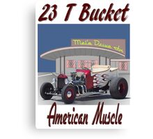 23 T Bucket - American Muscle Canvas Print