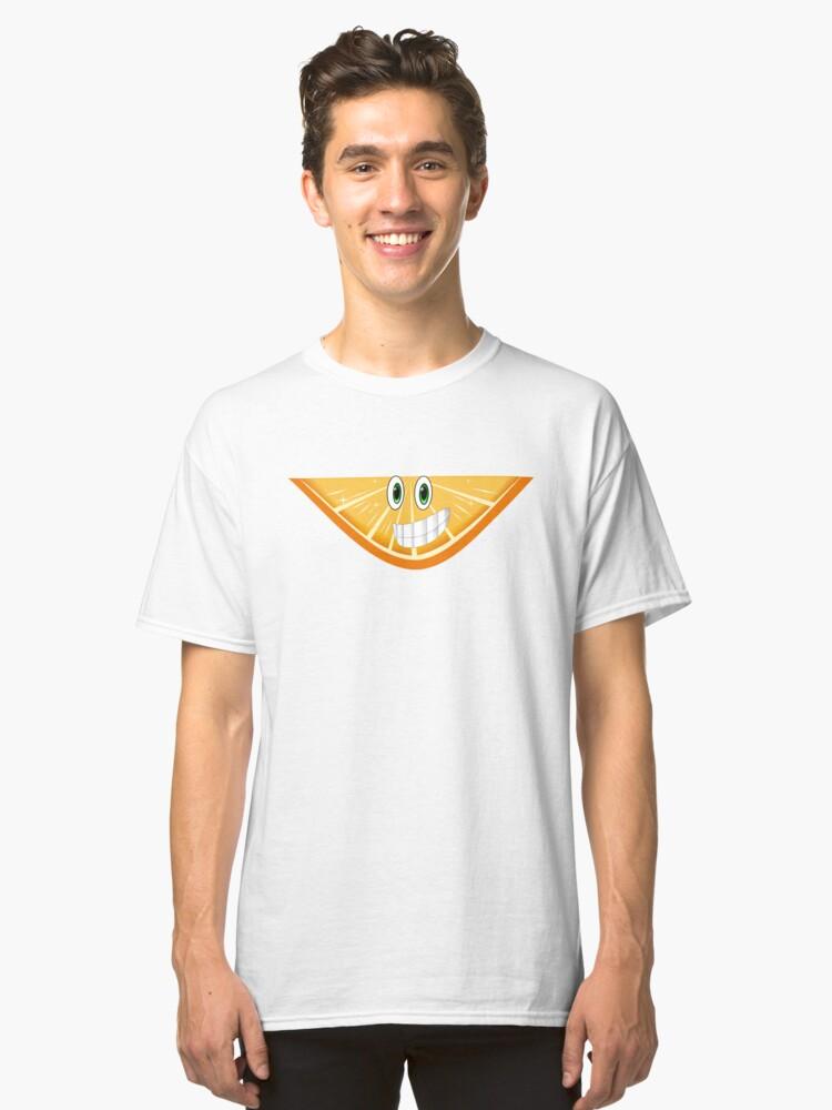 Cartoon Orange Tshirt Classic T-Shirt Front