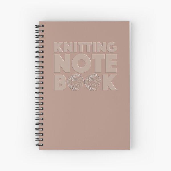 Pink Knitting Notebook Spiral Notebook