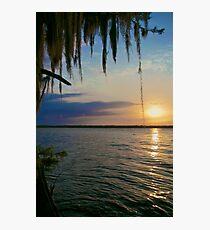Flat Lake Sunset - Atchafalaya Basin Photographic Print