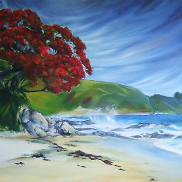 Pohutukawa, NZ by Rowi