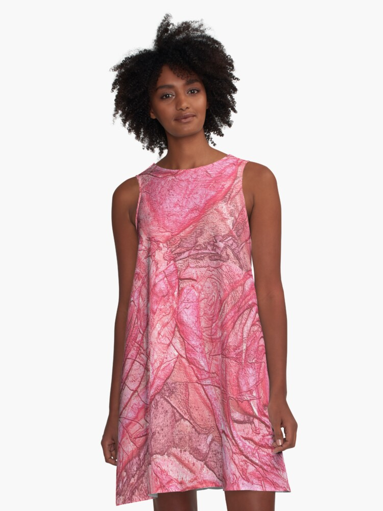 metallic roses A-Line Dress Front