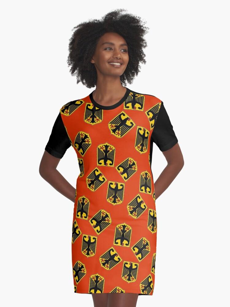 Deutschland ( Bundesadler) Graphic T-Shirt Dress Front