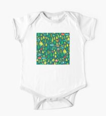 Green Forest Pattern One Piece - Short Sleeve