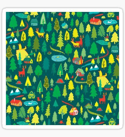 Green Forest Pattern Sticker